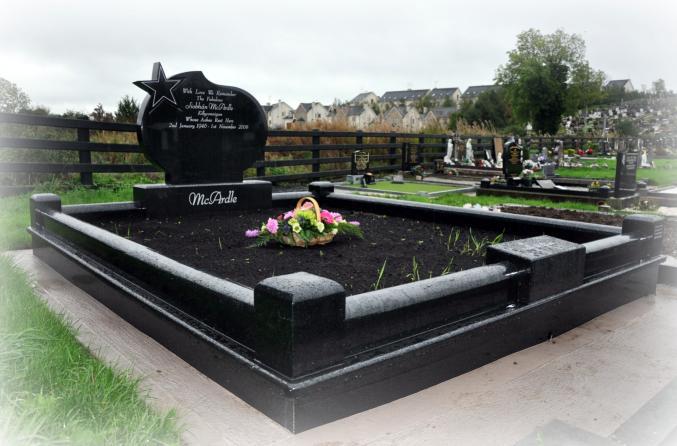 Headstone Surrounds Gravestones