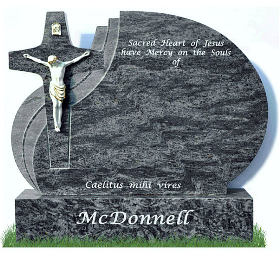 Modern Cross Headstone