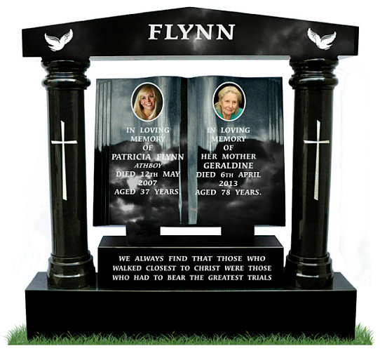 Book Headstone Surround