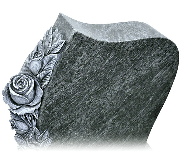 Carved Rose Headstone