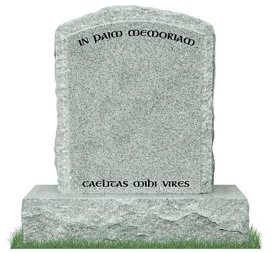 Rustic Round Top Gravestone
