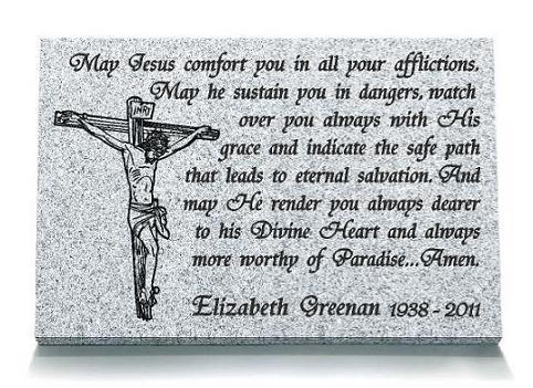 A Prayer to Jesus Memorial Plaque
