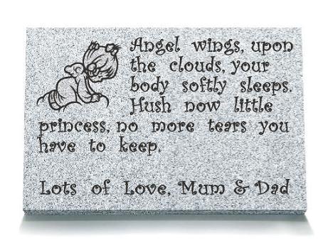 Young Baby Memorial Plaque