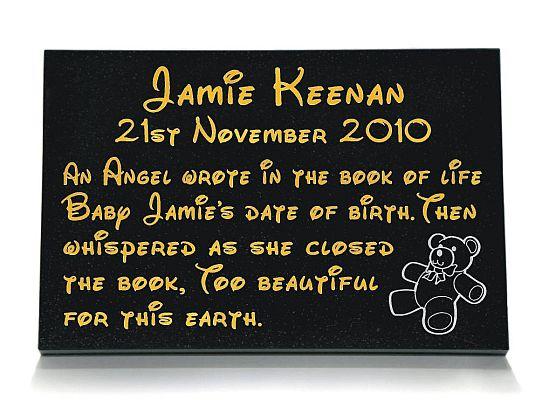 Baby Memorial Plaque
