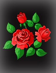 Red Roses for a Memorial Headsrone