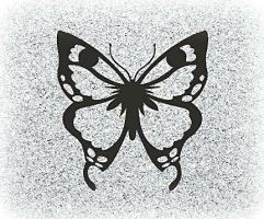 Butterfly for a headstone