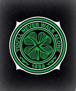 Celtic Football Memorial Image on Gravestone
