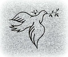 Dove with Twig Memorial Image