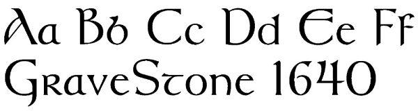 Celtic Fonts For Memorials
