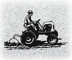 Farmer tractor Memorial for Headstone