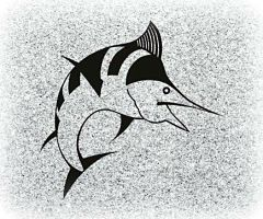 Fish Memorial Image for a Headstone