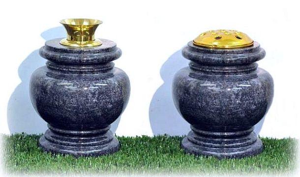 Flower Vase Round Granite