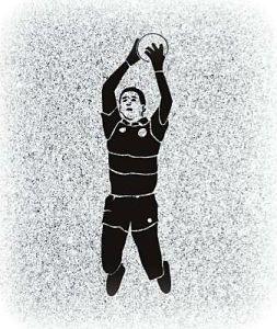 Gaelic Footballer Memorial for a Headstone