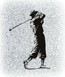 Golfer Memorial for a Gravestone