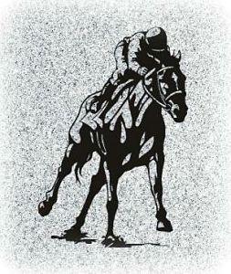 Jockey Memorial Image ofr a Gravestone