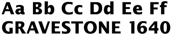 Stone Masons Lettering for Headstones