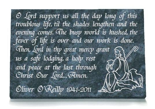 Memorial Prayer Plaques Gravestones