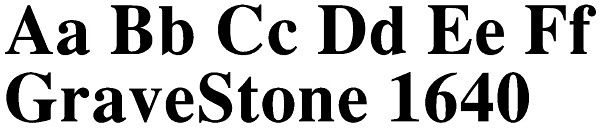 Lettering for Headstones