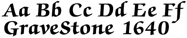 Contemporary and Traditional Lettering for Headstones