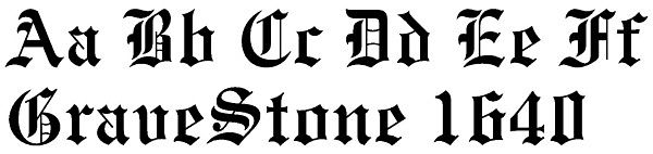 Old English Lettering for Headstones
