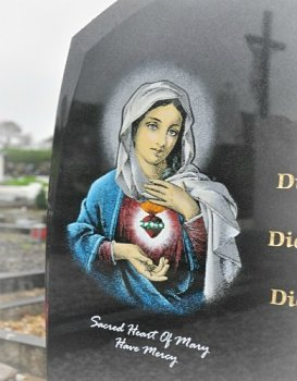 Our Lady of Lourdes headstone Image