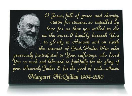 Padre Pio Memorial Prayer