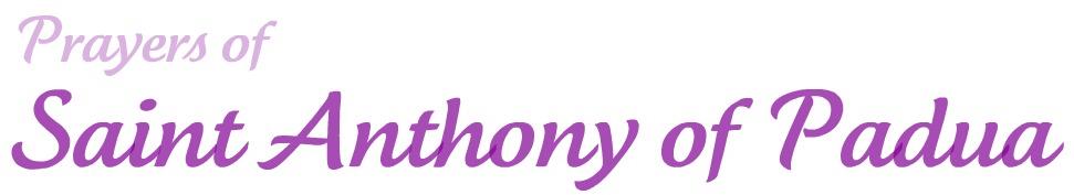 Prayers of Saint Anthony