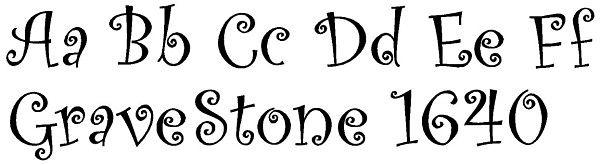 Script Fonts for Gravestones