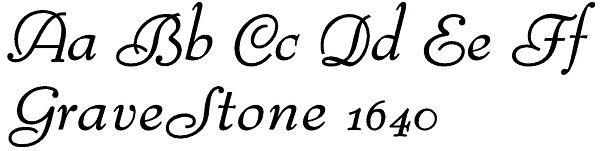 Script Lettering for Gravestones