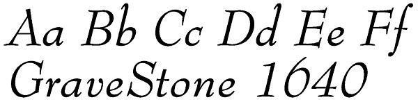 Script Lettering for Headstones