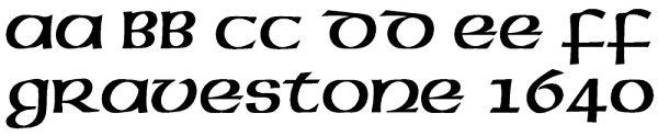Irish Lettering for Headstones