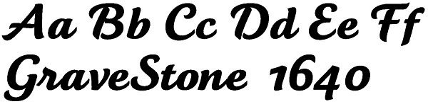 Headstone Script Lettering