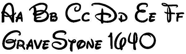 Disney Lettering for Memorials