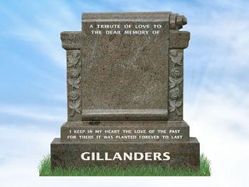 Headstone Scrolls Ireland