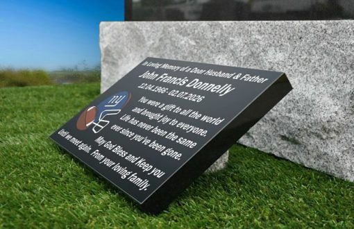 USA Football Memorial Plaques and Gravestone Ornaments for Cemetery graves