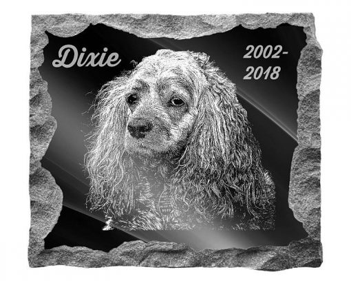 American Cocker Spaniel Dog Memorial headstones