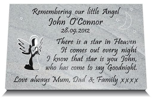 Angel Memorial Plaques for babies