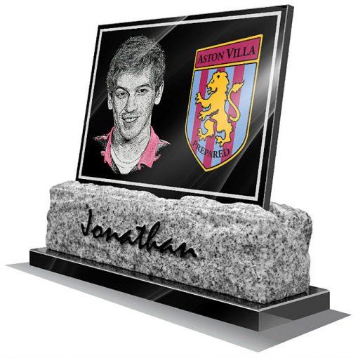 Aston Villa FC Memorial plaque for grave