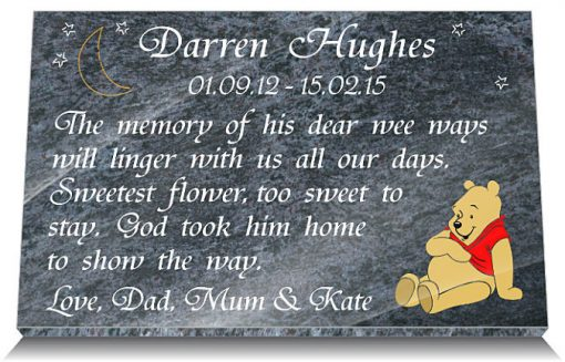 grave plaques for toddlers