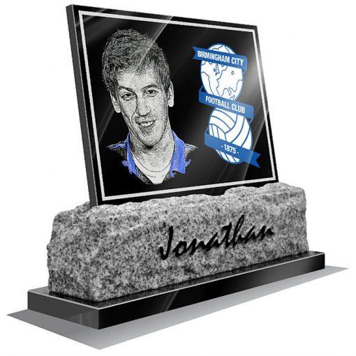 Birmingham FC Memorial plaque for grave