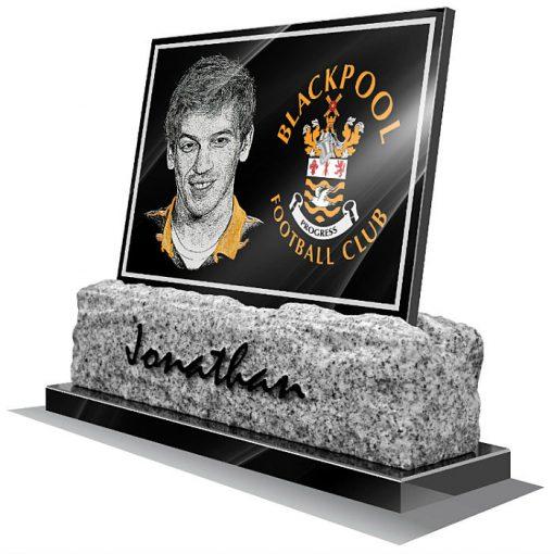 Blackpool FC Memorial plaque for grave