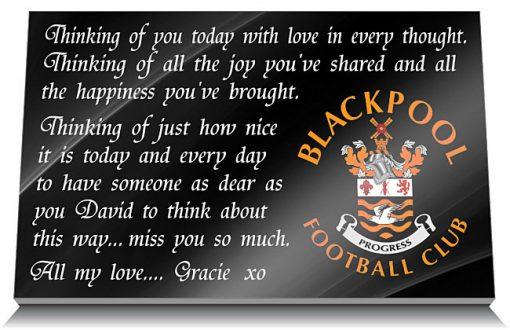 Blackpool Football Club Memorial Tablet