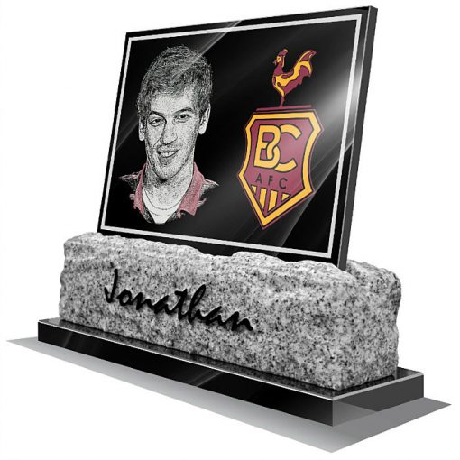 Bradford City FC Memorial plaque for grave