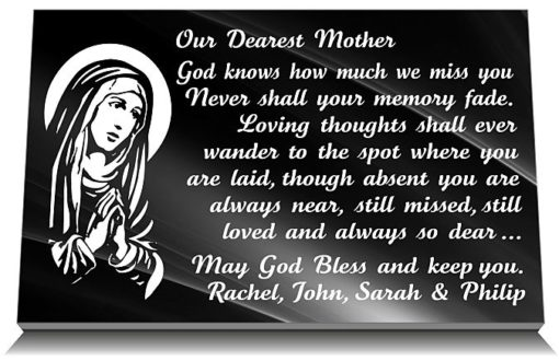 Mom Memorial Plaque with photo and funeral verse