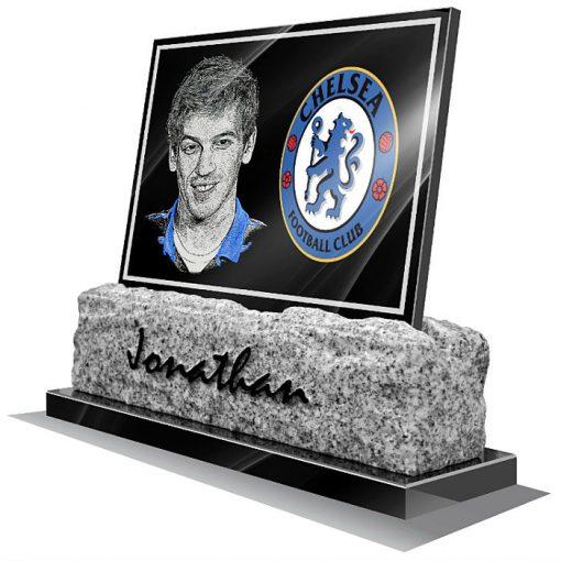 Chelsea FC Memorial plaque for grave
