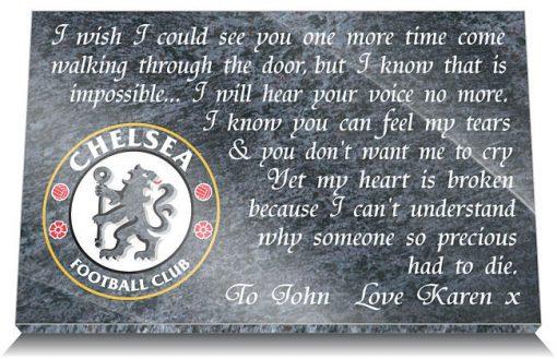 Chelsea Football Club Memorial Plaque