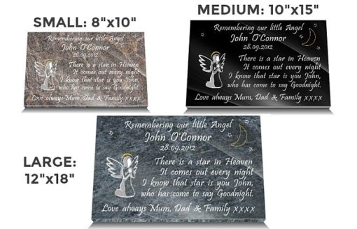 The best infant grave markers for babies with angels