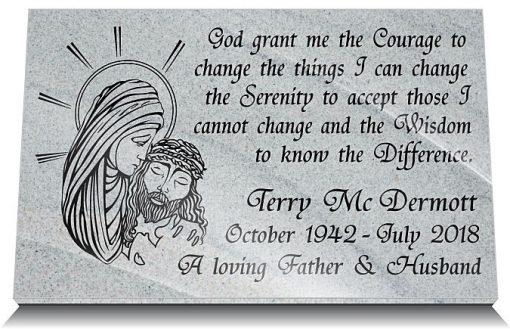 Catholic memorial plaques