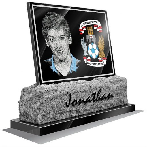 Coventry City FC Memorial plaque for grave