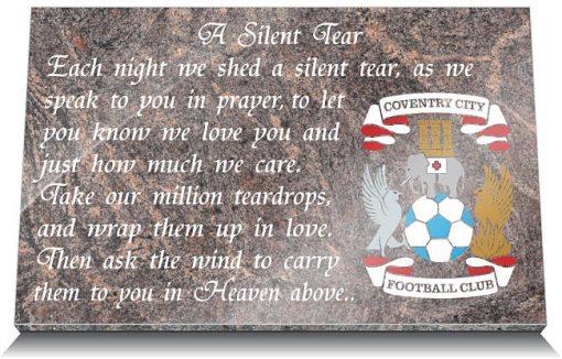 Coventry City FC Memorial Plaque
